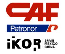 New partners logos: CAF, Petronor, Ikor