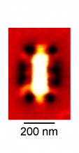 Near-field image of a rectangle graphene nanoresonator (Image: nanoGUNE)